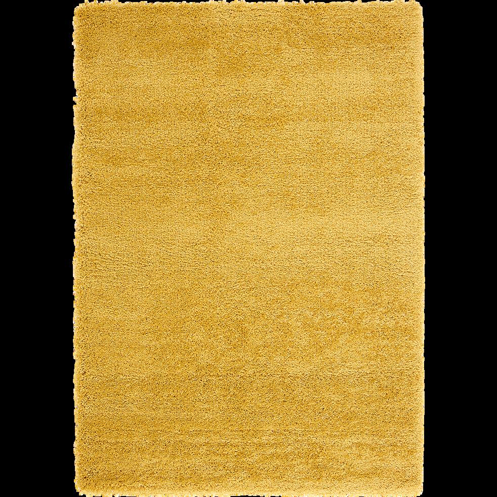 Tapis à poils longs jaune - Plusieurs tailles-KRIS
