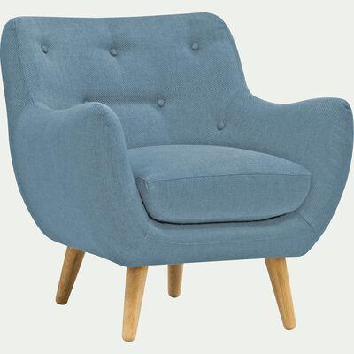 Fauteuil en tissu bleu-Poppy