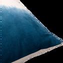 Coussin en coton bleu et écru 40x40cm-IZEL