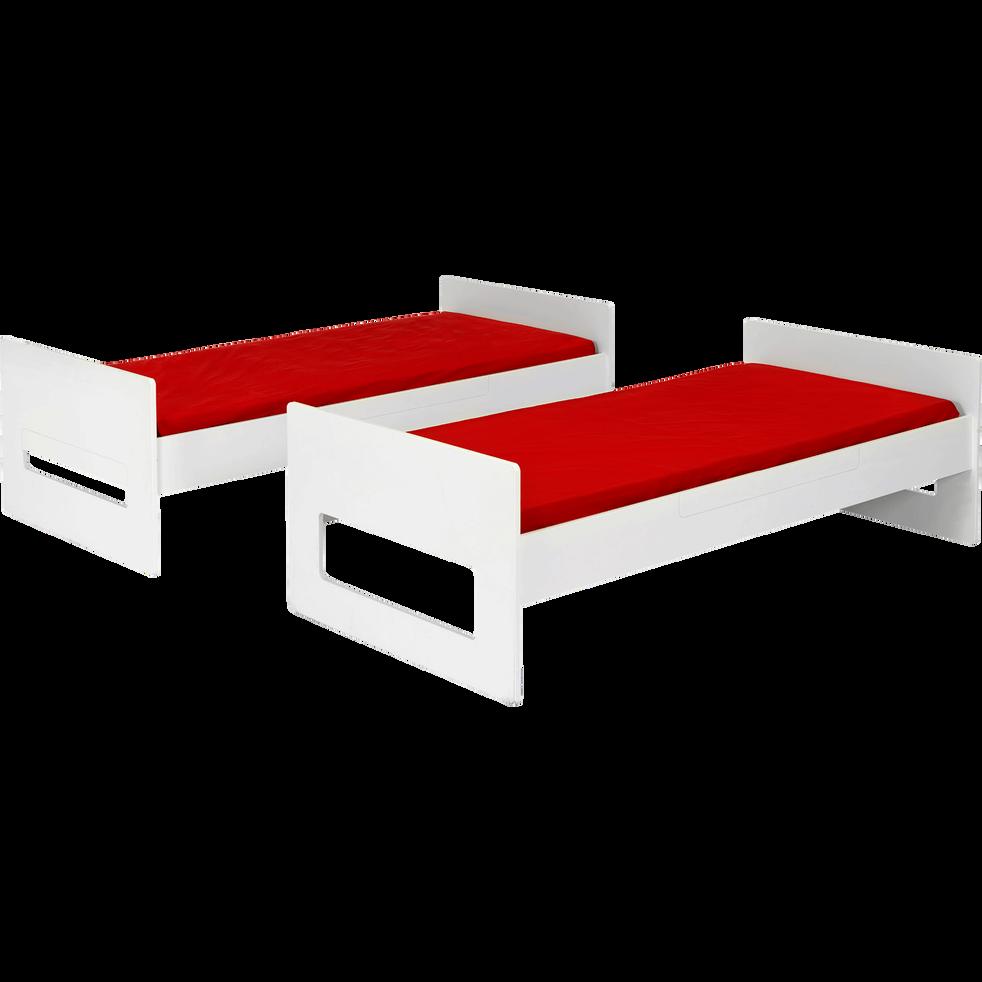 lits superpos s 1 place blanc modulables 90x200 cm astuce lits superpos s alinea. Black Bedroom Furniture Sets. Home Design Ideas