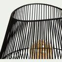 Lampe à poser en métal noir 24x24x42cm-CLAUDINE