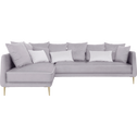 Canapé d'angle fixe gauche en tissu gris borie-ASTELLO