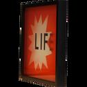 Affiche encadrée imprimé rouge 30x30cm-LIFE