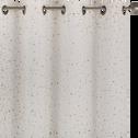 Rideau en coton écru motif terrazzo 135x250cm-GENES