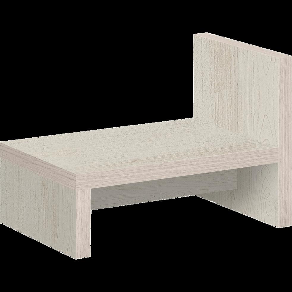 Table de chevet finition cerisier blanchi-BROOKLYN