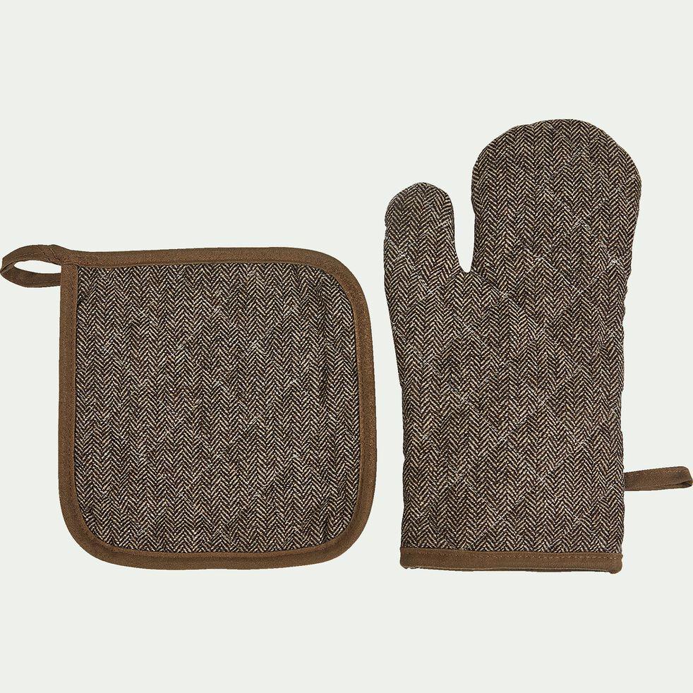 Lot de manique et gant - taupe-Manoufle