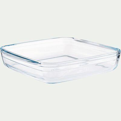 Plat carré en verre borosilicate 25x22cm-AZET