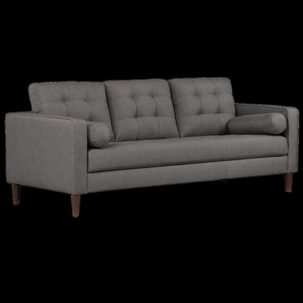 canap 3 places fixe en tissu gris restanque romeo canap s en tissu alinea. Black Bedroom Furniture Sets. Home Design Ideas