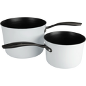 Casserole anti-adhésif blanche D20cm (tous feux dont induction)-ESCAL