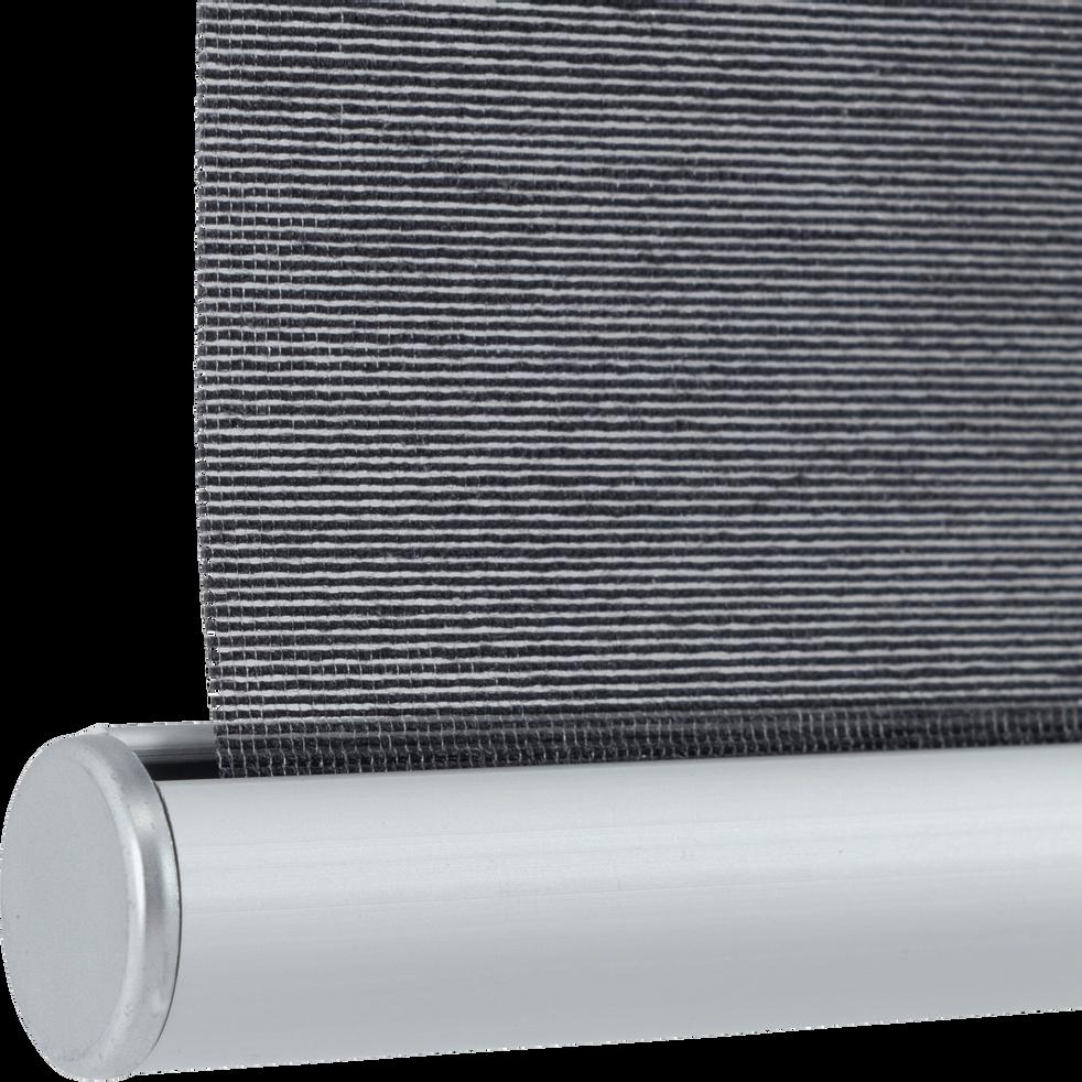 Store enrouleur voile gris 37x170cm-EASY VOILE