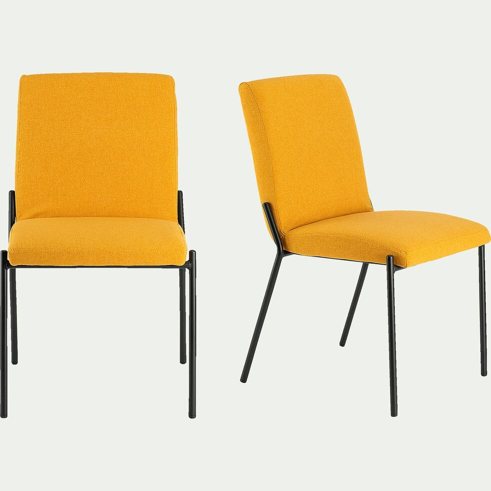 chaise en tissu beige azara-JASPE