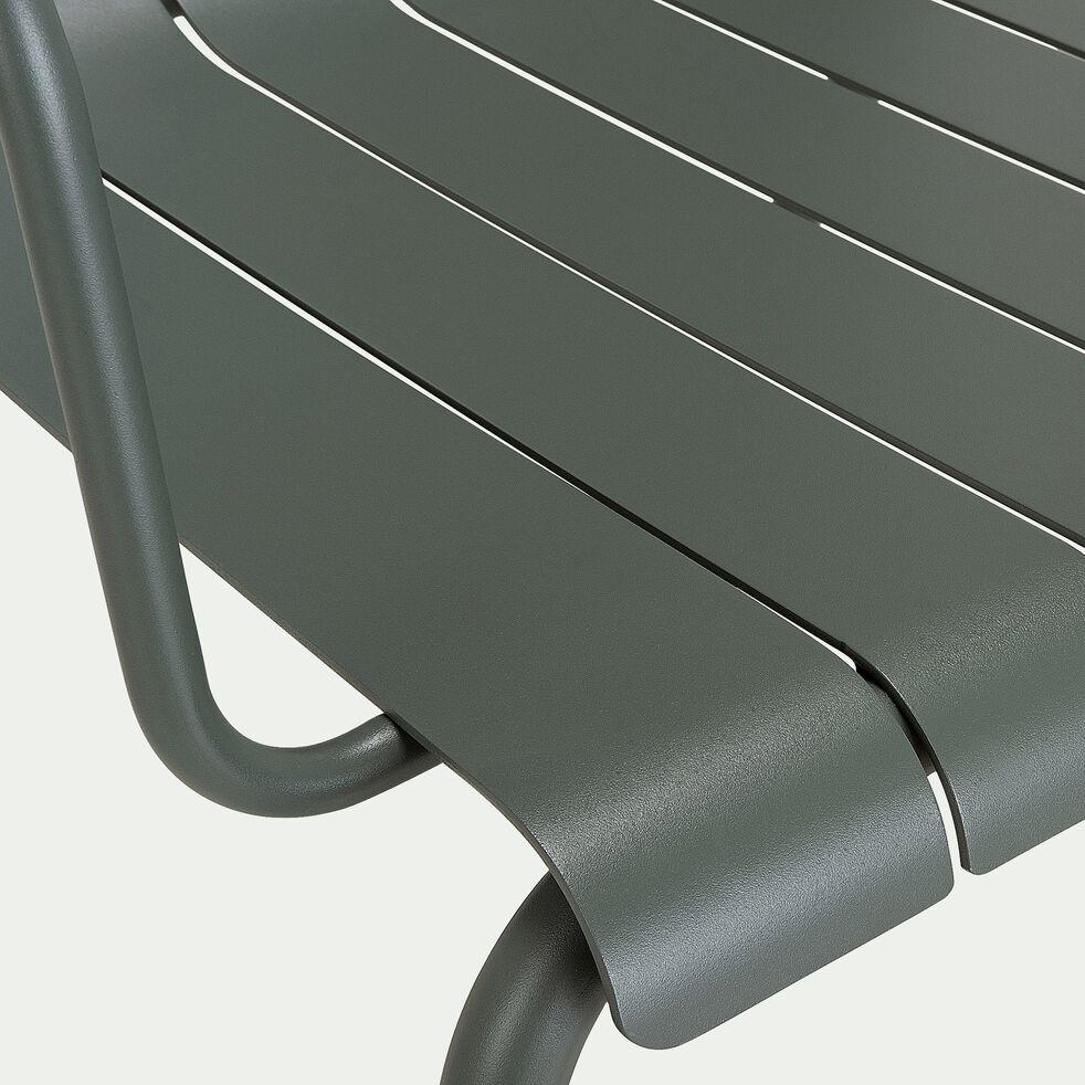 Canapé de jardin en aluminium - vert cèdre (2 places)-PARADOU