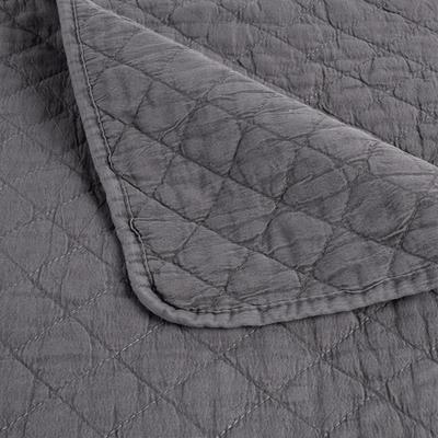 Couvre-lit effet lavé gris restanque 180x230cm-THYM