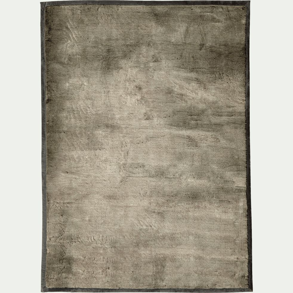 Tapis imitation fourrure - gris foncé 160x230cm-Dallas