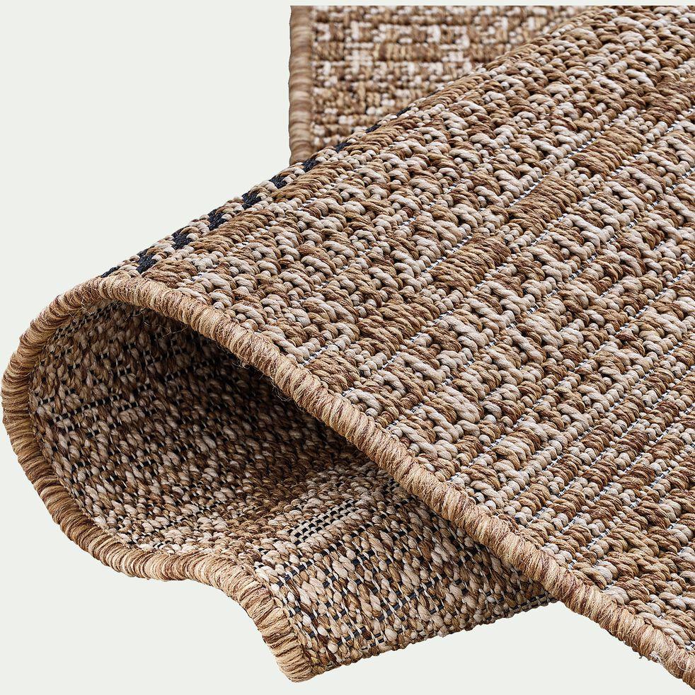 Tapis intérieur et extérieur inspiration aztèque - marron 160x230cm-luca