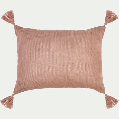 Coussin rectangle en coton 30x40cm - rose salina-Songe