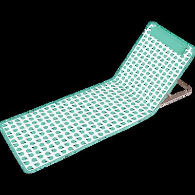 Matelas de plage vert d'eau à motifs-CELIO