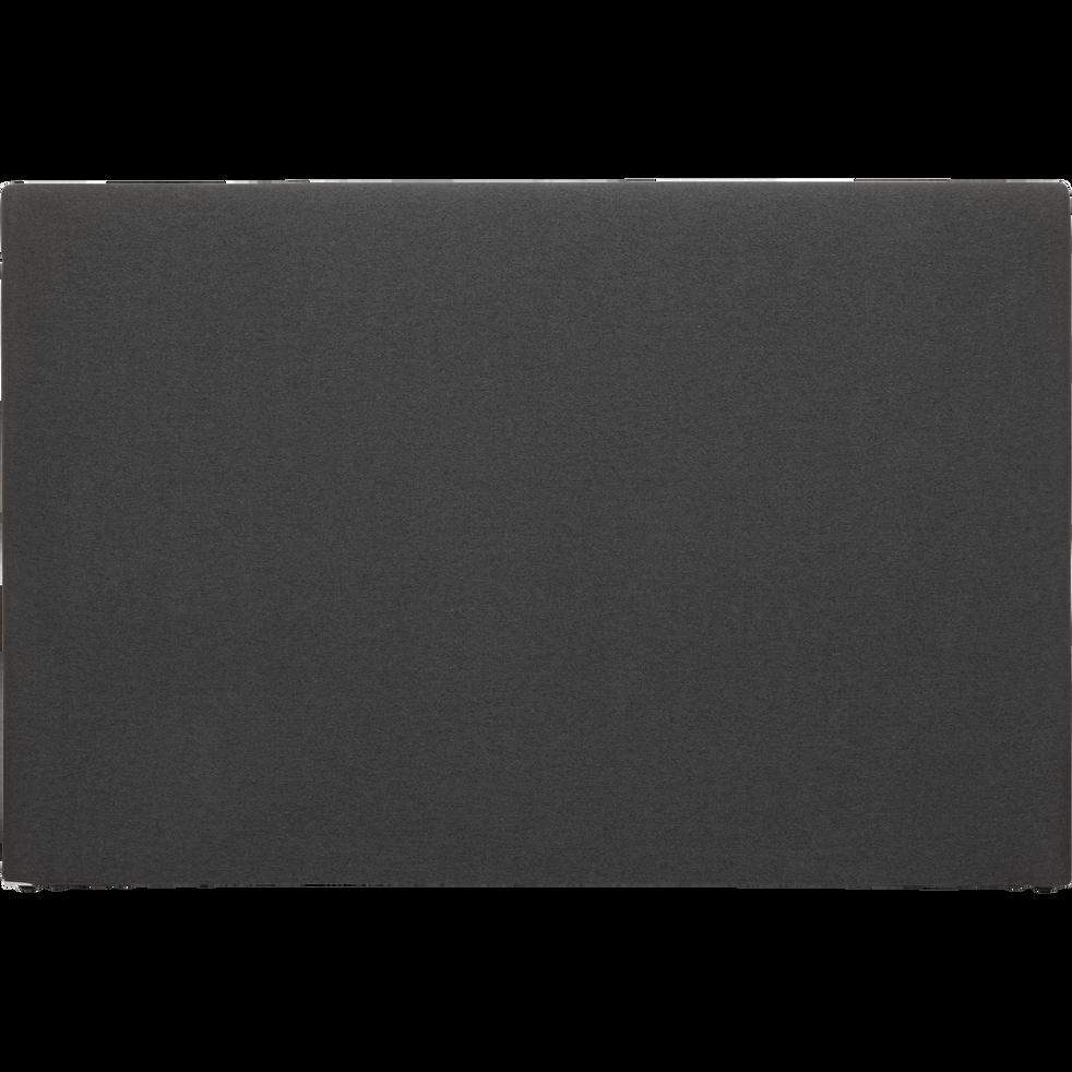 housse pour t te de lit peps m lange lin gris anthracite. Black Bedroom Furniture Sets. Home Design Ideas