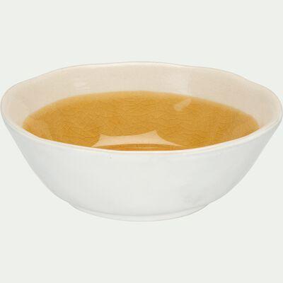 Coupelle en grès - jaune et blanc D12cm H4cm-KARNAK