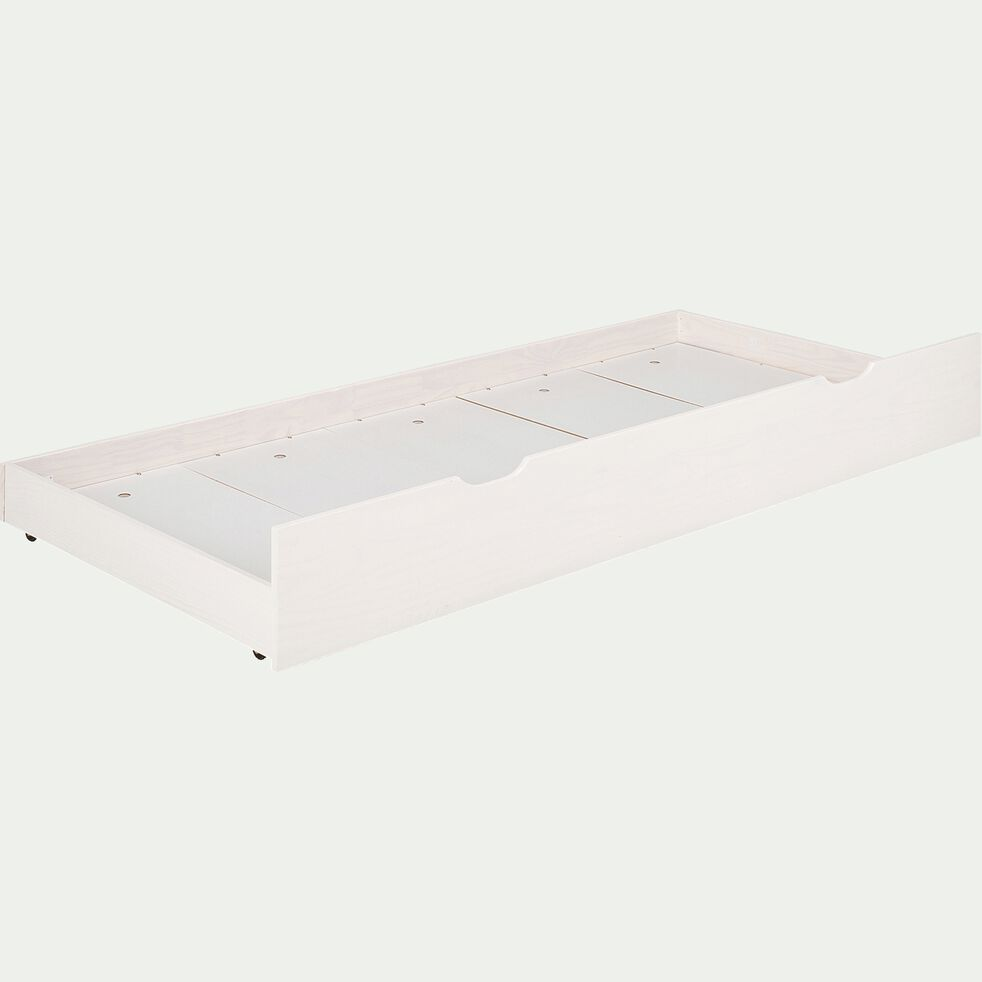 Tiroir de lit en pin massif -  blanc-GIGARO