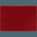 Set de table à franges en coton rouge 30x45cm-DINA