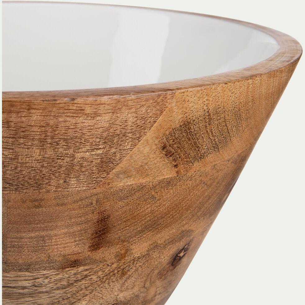 Saladier en bois de manguier - D30xH17cm blanc-AGIBI