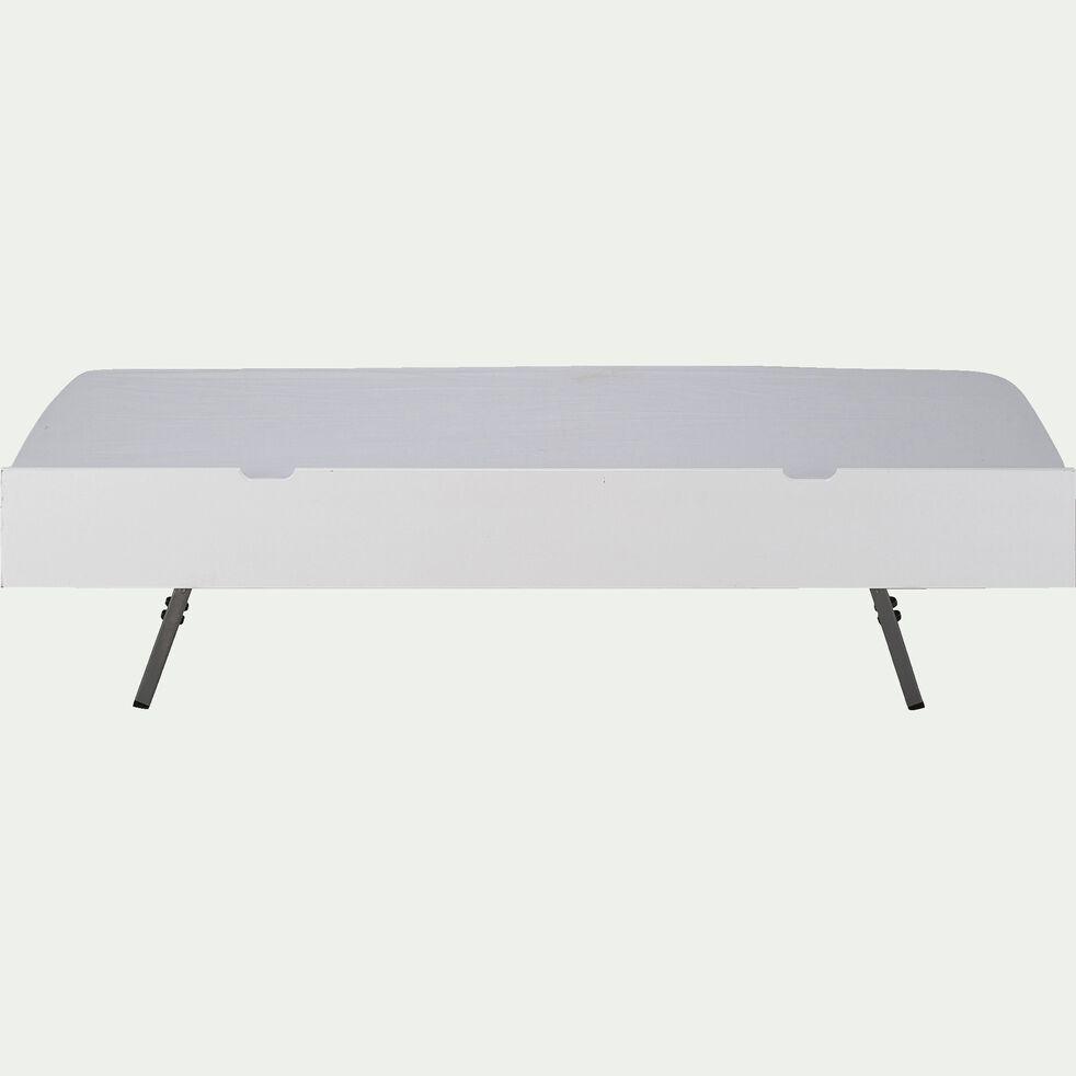 Lit gigogne tiroir de lit en bois 90x200cm - blanc-POLLUX
