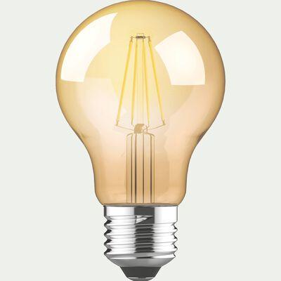 Ampoule LED déco à filament - E27 D6cm blanc chaud-STANDARD