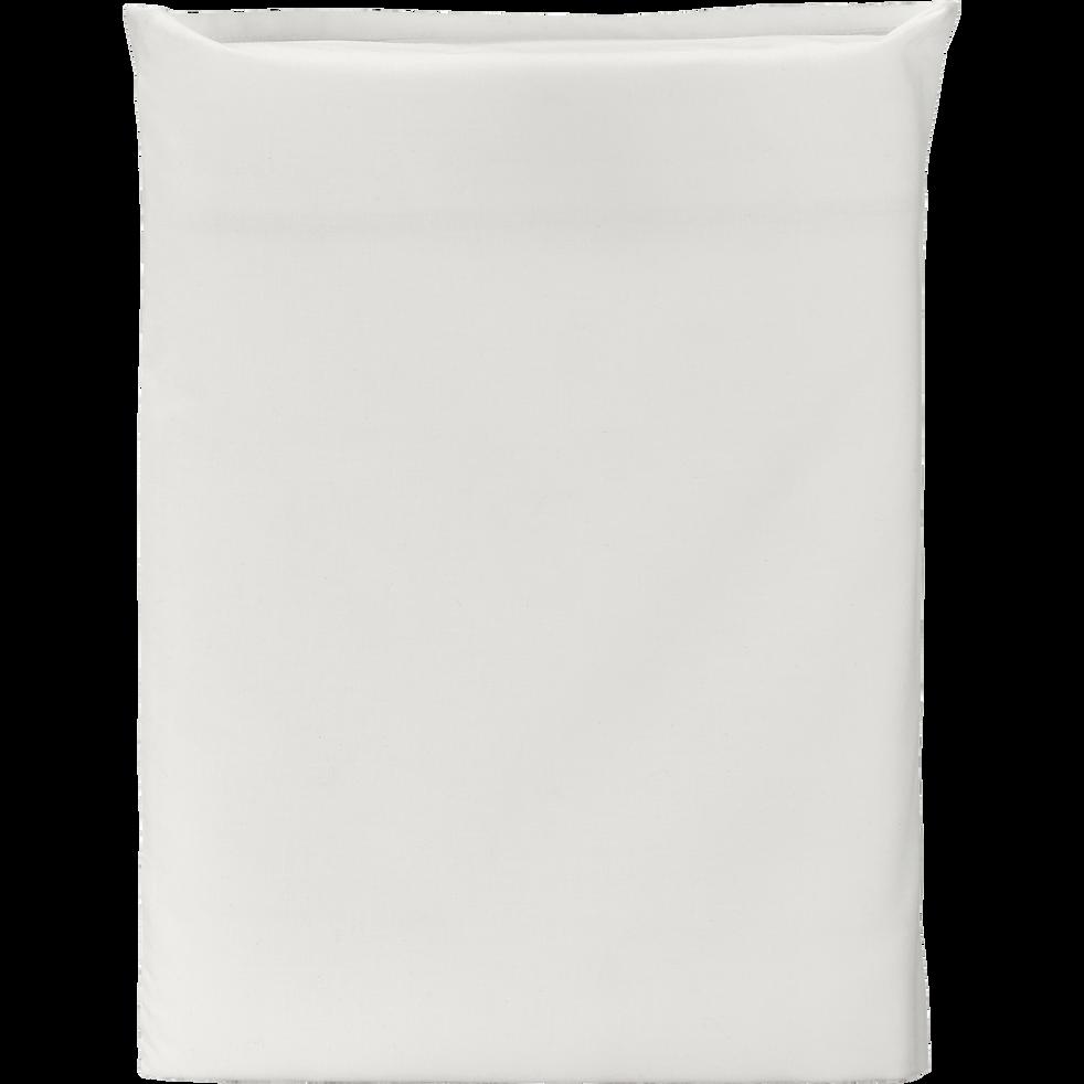 Drap plat en percale de coton  270x300 cm blanc ventoux-FLORE