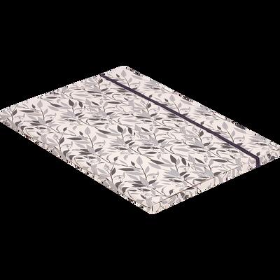 Pochette à rabat en carton motifs Laurier 32x23cm-ORANGER