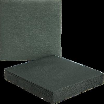 Lot de 20 serviettes intissé vert cèdre 40x40cm-SALERNE