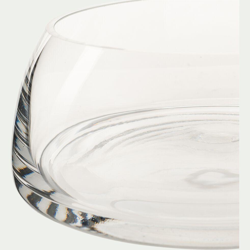 Coupe décorative en verre - transparent D18,5cm-HEDYCHIUM