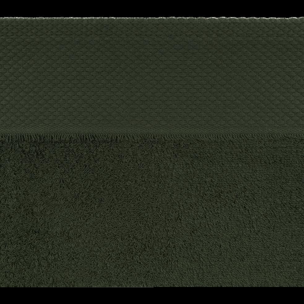 Linge de toilette vert cèdre-AZUR