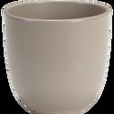 Pot taupe en céramique (plusieurs tailles)-TUSCA