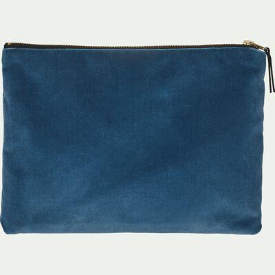 Pochette en coton - bleu 20x27cm-ELOI