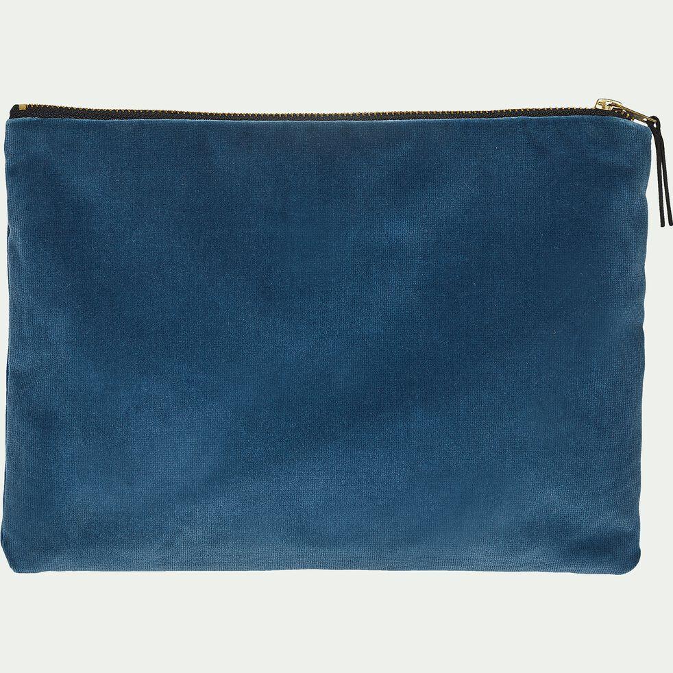 Pochette en coton bleu 27x20cm-ELOI