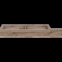 Tiroir de lit à roulettes effet chêne cendré L190 cm-BROOKLYN