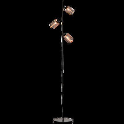 Lampadaire en métal doré ajouré H160cm-MESH