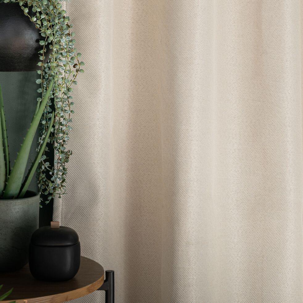 Rideau à œillets en polyester - beige roucas 135x300cm-PINEDE