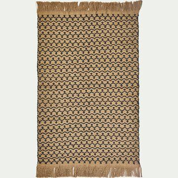 Tapis tissé en jute et coton - naturel et noir 120x170cm-SIA