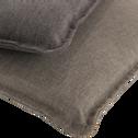 Coussin de chaise déperlante taupe 50x50cm-OPIO