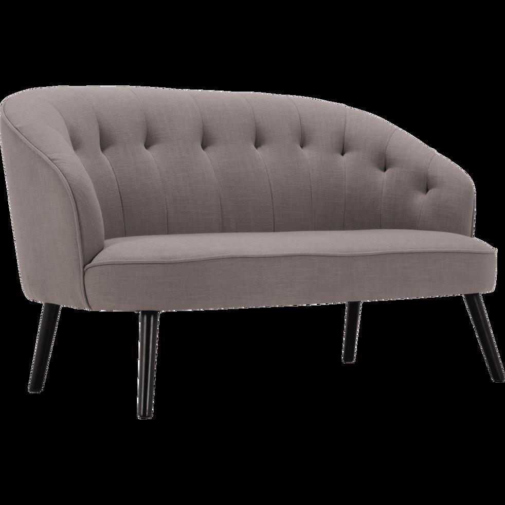 Canapé 2 places fixe en tissu gris restanque-MARCELLIN