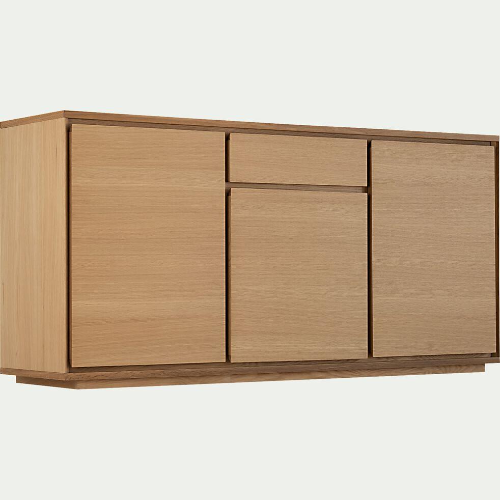 Buffet bas en bois 3 portes 1 tiroir - naturel-AGOSTA