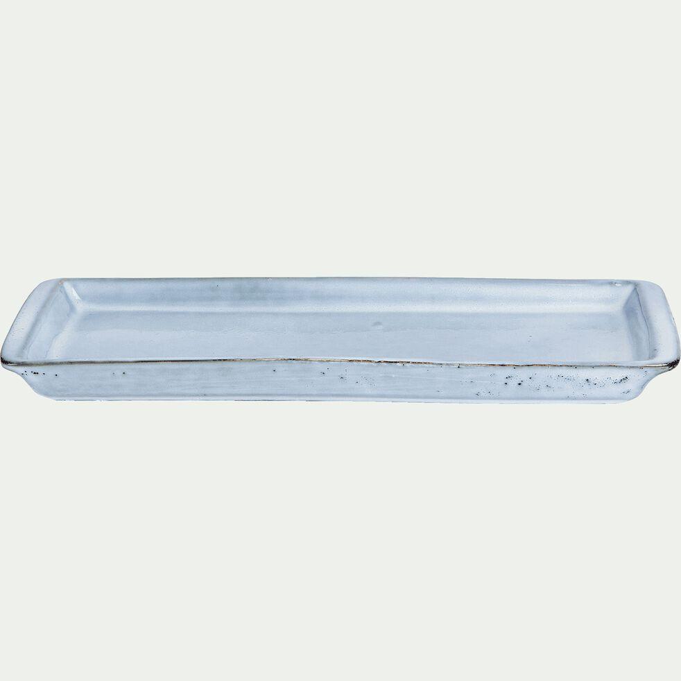 Plat à four en grès bleu 30,5x10,5cm-ADAM