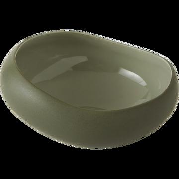 Coupelle en grès vert olivier D14cm-KYMA