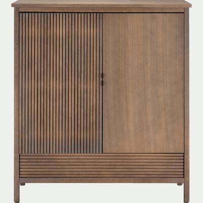 Armoire 2 portes et un tiroir en bois foncé-CRUZ