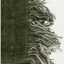 Plaid en lin et laine - vert cèdre 105x200cm-MARCEL