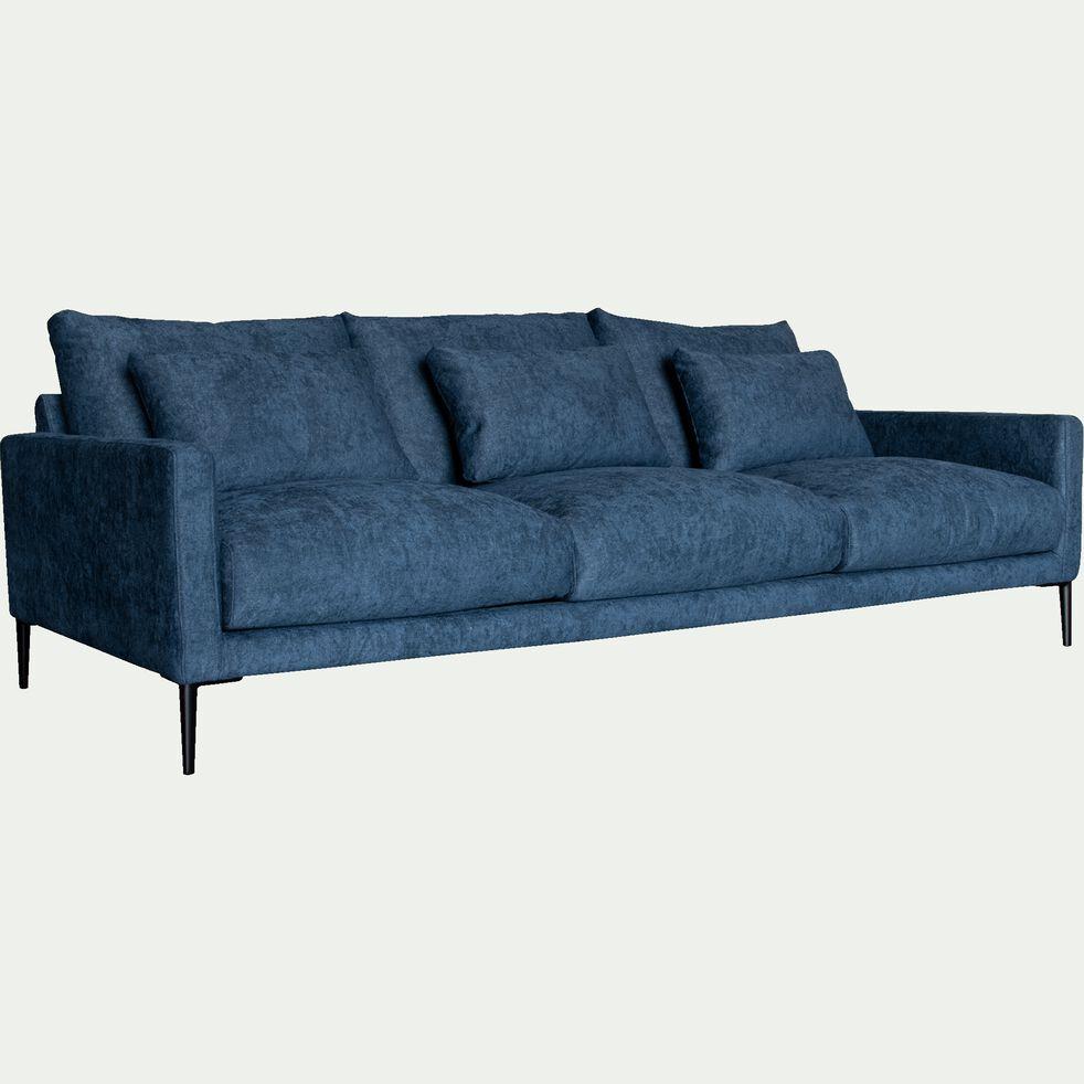 Canapé fixe 5 places en tissu bleu figuerolles-SOZY