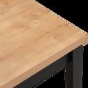 Table de repas extensible effet bois - 2 à 4 places-AMBRE
