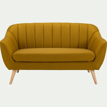Canapé 2 places fixe en tissu - jaune argan-SHELL